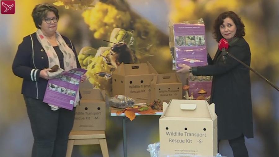 Omroep Flevoland: Speciale Wildlife Transport Rescue Kit voor zieke egeltjes
